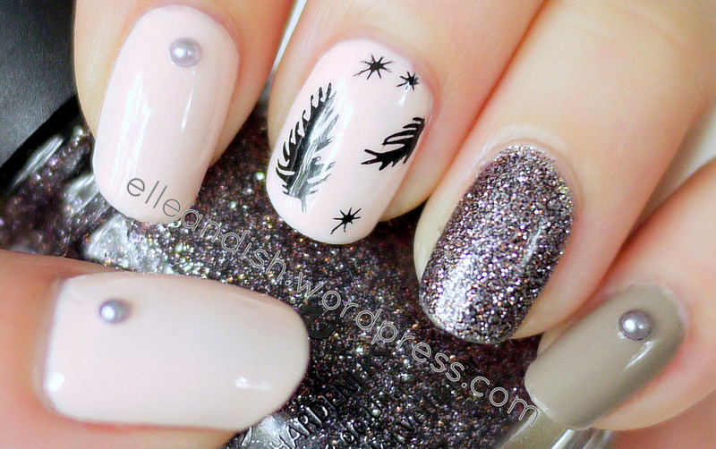 Feather Nails nail art by elleandish