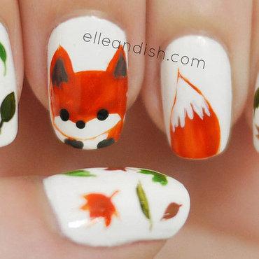 Fox Nails (Freehand) nail art by elleandish
