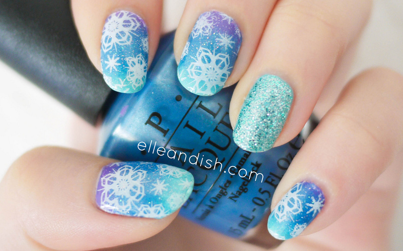 Winter Snowflake Nails (Stamping) nail art by elleandish - Winter Snowflake Nails (Stamping) Nail Art By Elleandish