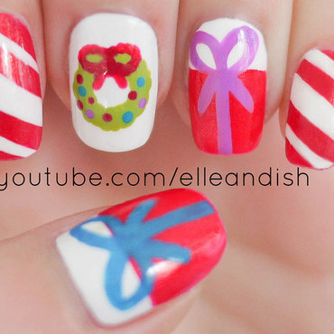 Christmas Nails (Freehand) 2 nail art by elleandish