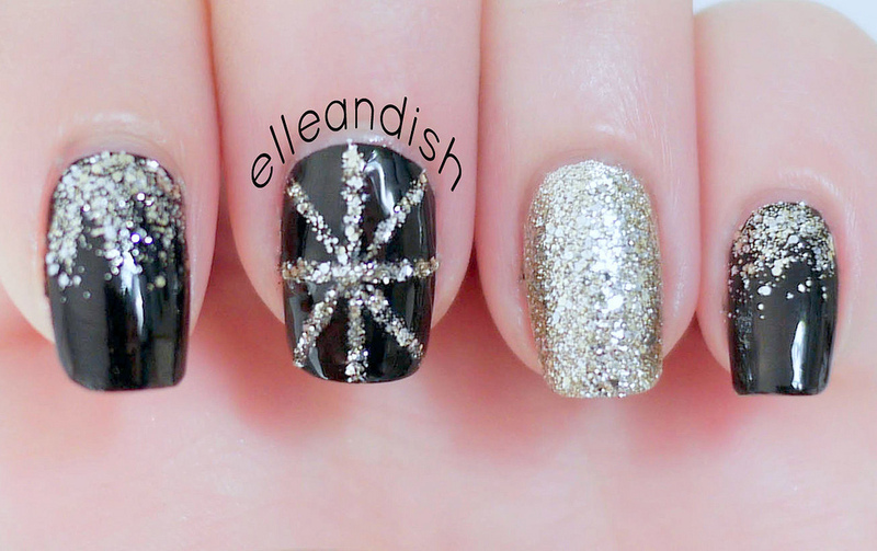New Year's Eve Party Nails nail art by elleandish