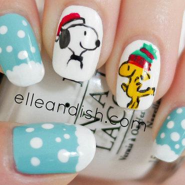 Snoopy & Woodstock Peanuts Nails nail art by elleandish