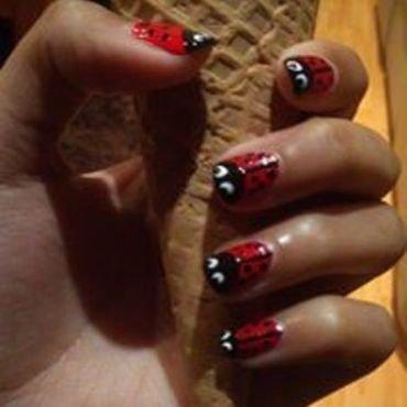 Ladybirds nail art by Nikita Natali
