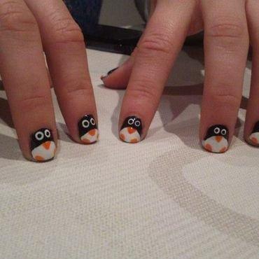 Penguins nail art by Nikita Natali