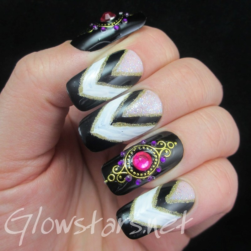 You realize that sometimes you're just not ok nail art by Vic 'Glowstars' Pires