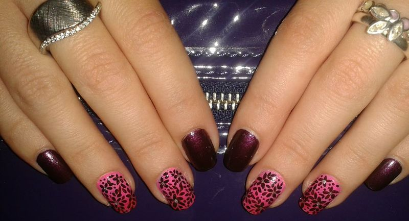 All over floral nail art by Lara