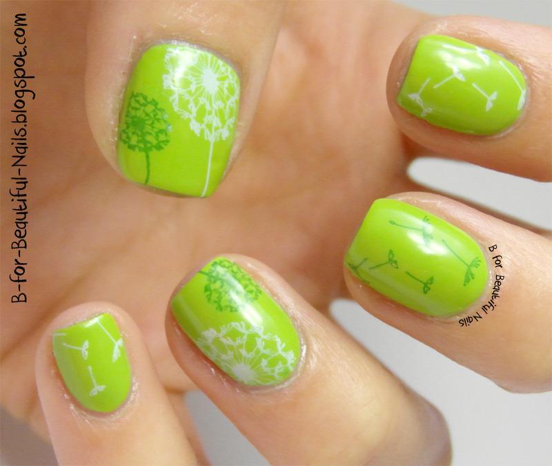 Dandelion Nail Art nail art by B.