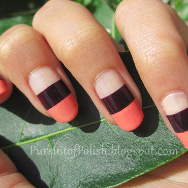 Colorblock Saharan Nails nail art by Wanya Chu