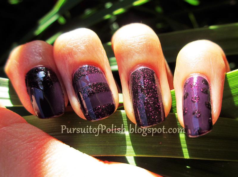 Violet Monotone Manicure nail art by Wanya Chu