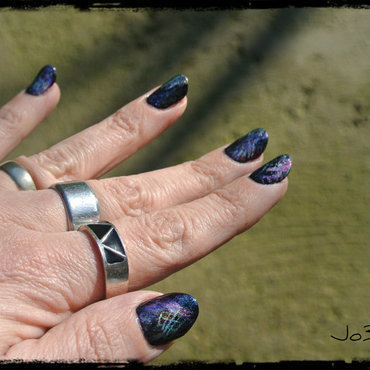 #LLreinvention graffiti nails nail art by Jo3jeans