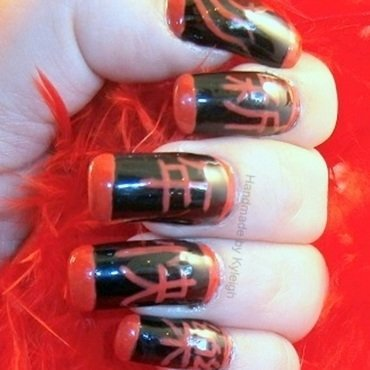 Chinese New Year 2014 nail art by  Kyleigh  'Handmade By Kyleigh'