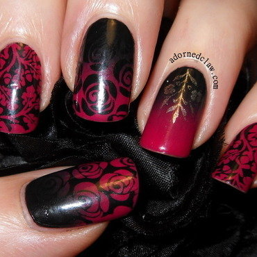 Vampy valentines day nail art red roses mm16 moyou pro thumb370f