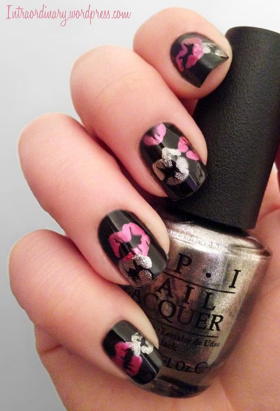Kisses nail art by Katie