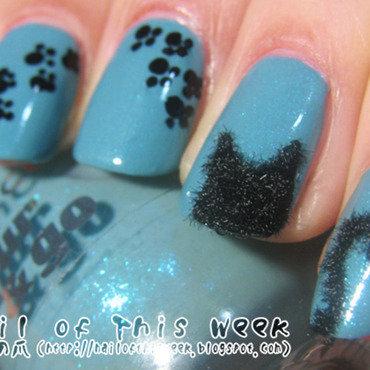 Hey Kitty!! nail art by Chiro