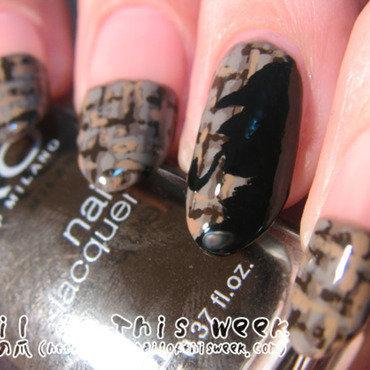 I LOOOOOOOVE Sherlock Holmes! nail art by Chiro
