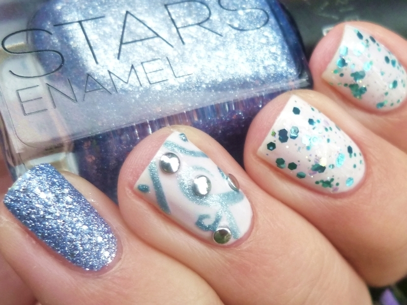 Ice Queen nail art by Romana