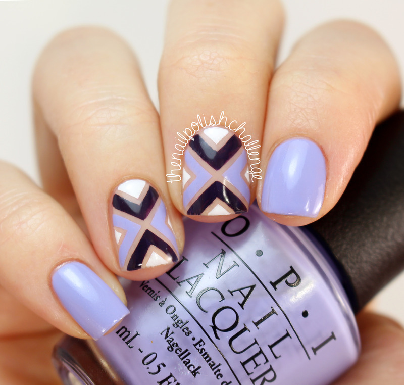 With Striping Tape Nail Art Ideas: Purple OPI Striping Tape Nail Art Nail Art By Kelli Dobrin