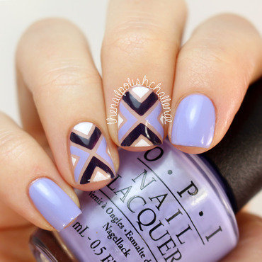 Purple OPI Striping Tape Nail Art nail art by Kelli Dobrin