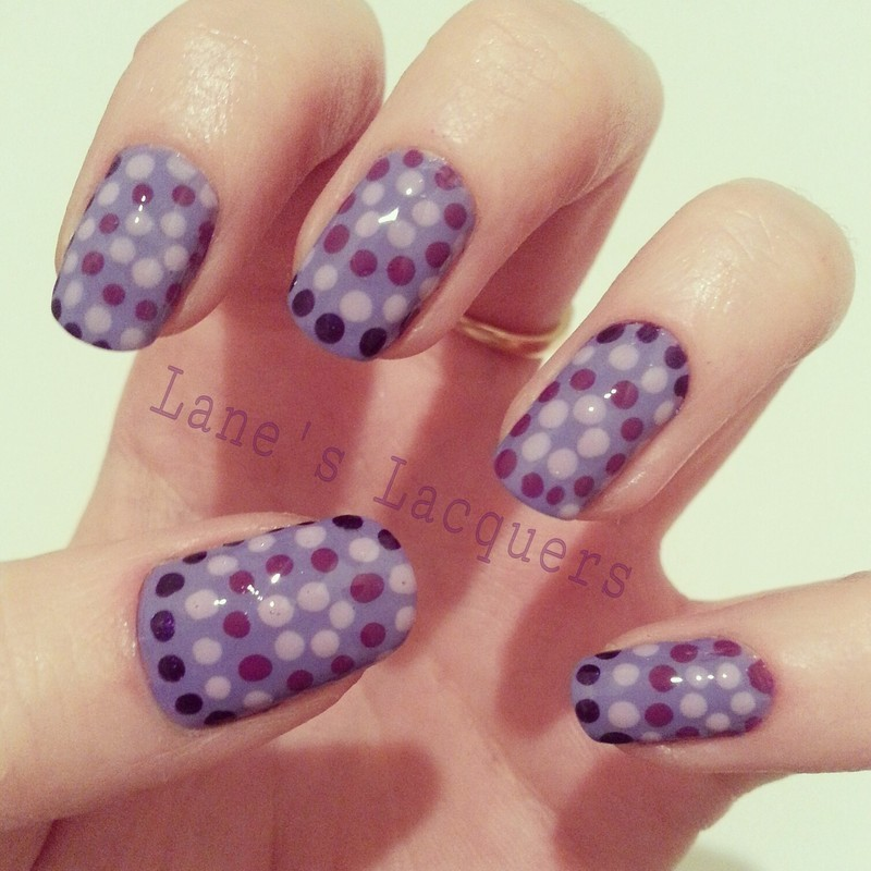 Purple Mosaic Dotticure nail art by Rebecca