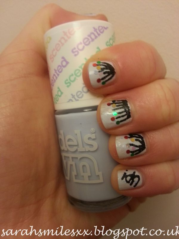 Fly away with UP! nail art by Sarah Clarke
