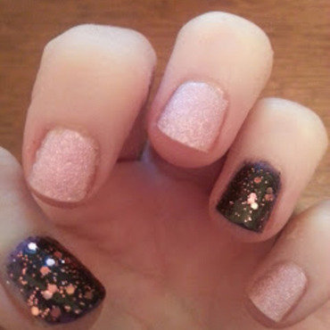 Textured Glamour nail art by Sarah Clarke