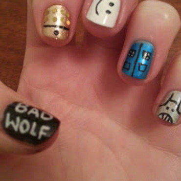 Doctor Who 50th Anniversary nail art by Sarah Clarke