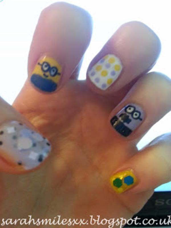 Ba-na-na! Bahhh! nail art by Sarah Clarke