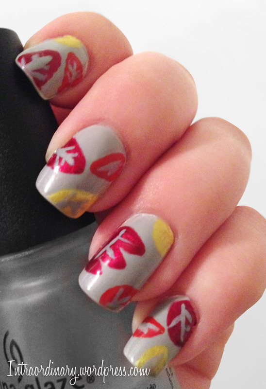 Autumn Nails nail art by Katie