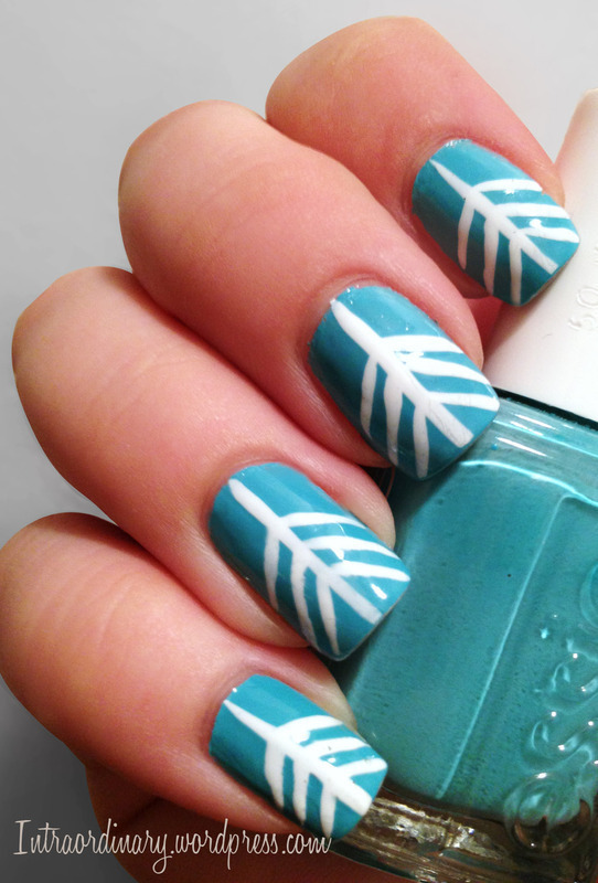Arrow Head nail art by Katie