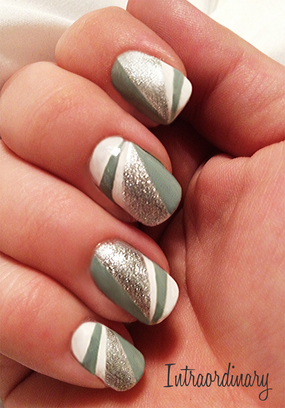 Clean Lines nail art by Katie