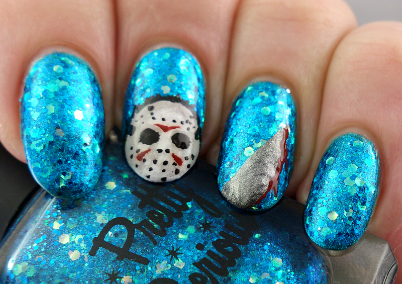 Friday 13th Nail Art nail art by Cassie