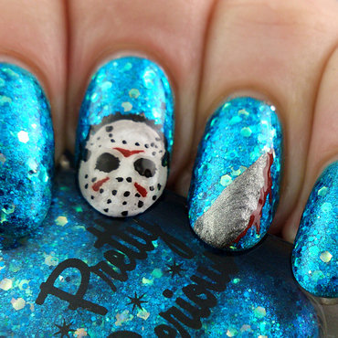 Pretty serious crystal lake nail art thumb370f