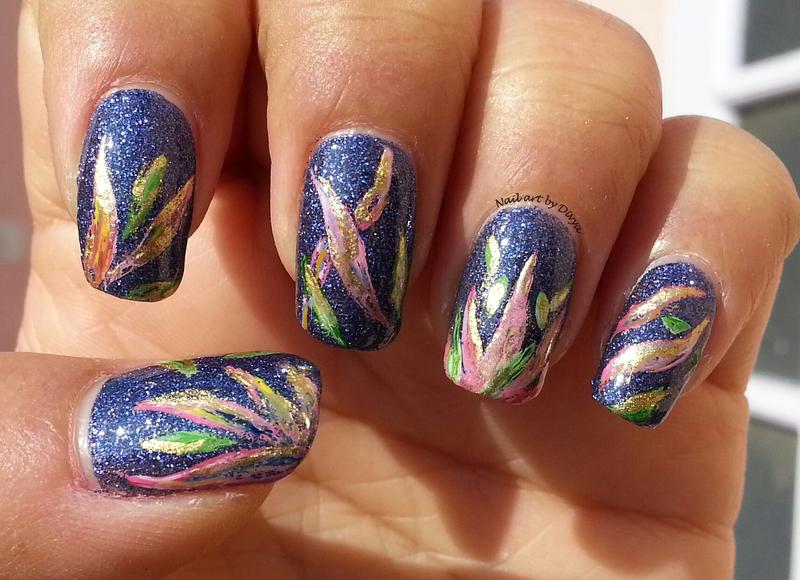 Aquarelle Floral Mani nail art by Divya Pandey