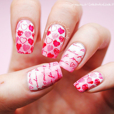 Love letter nail art by Olaa