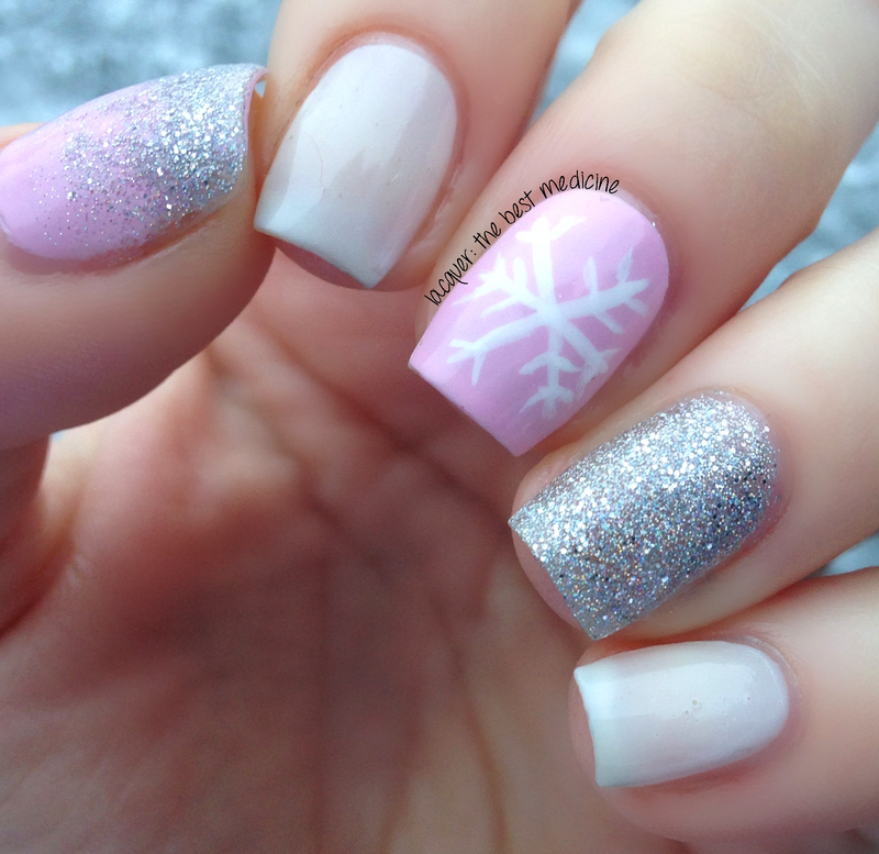 Delicate Pink Snowflake nail art by Ariel - Delicate Pink Snowflake Nail Art By Ariel - Nailpolis: Museum Of