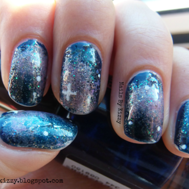 Galaxy Nails! nail art by Kizzy