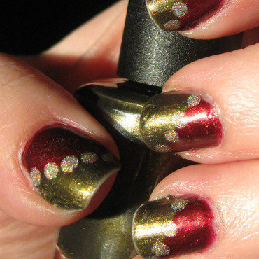 Christmas Time nail art by Andi
