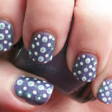 Dots nail art by Andi