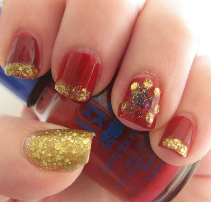 Chinese New Year nail art by Andi