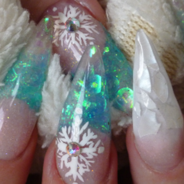 Cold as Ice nail art by Nicki