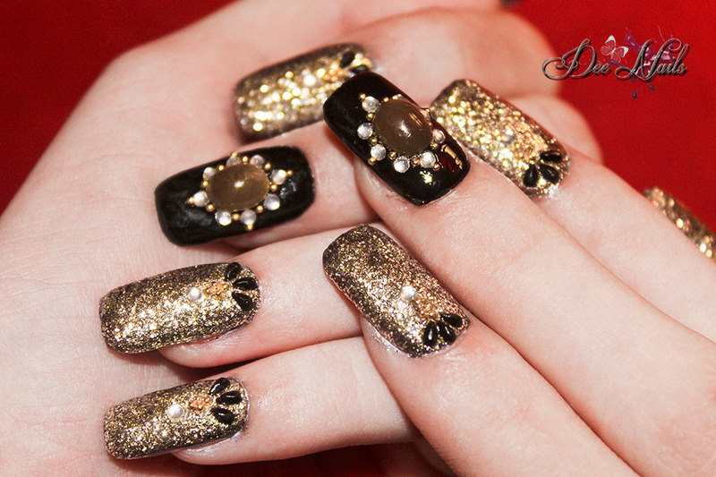 Jewels  nail art by Diana Livesay