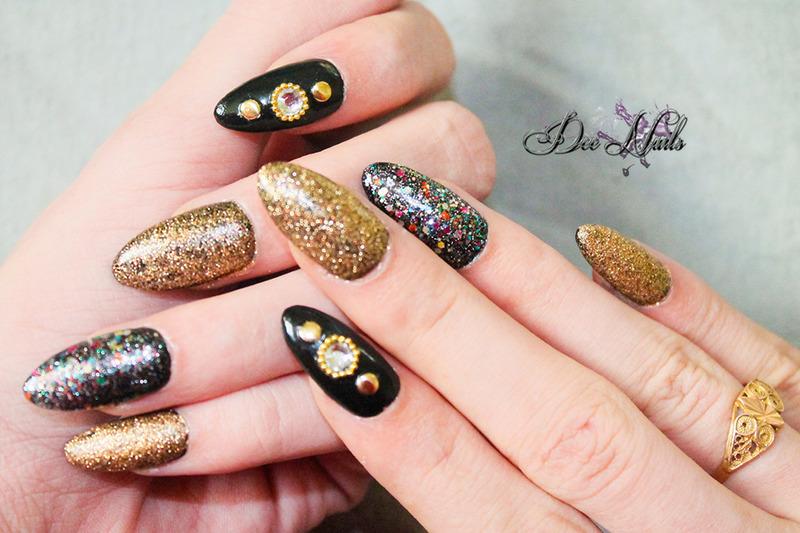 Confetti nail art by Diana Livesay