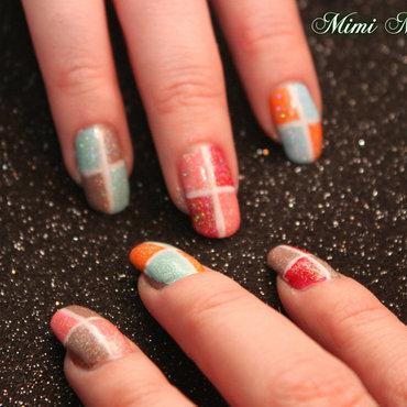 square design nail art by Michelle Travis
