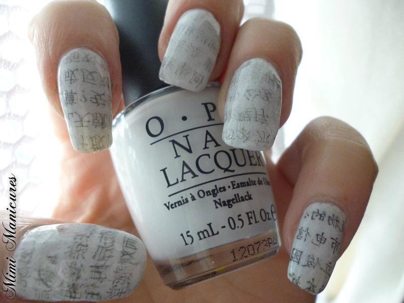 newpaper nail art nail art by Michelle Travis