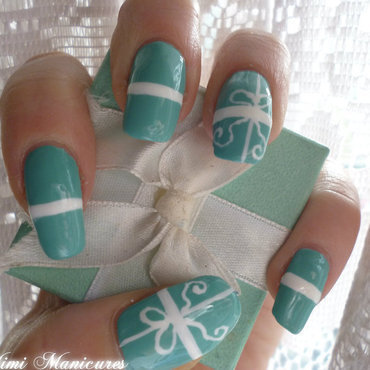 tiffany box nails nail art by Michelle Travis
