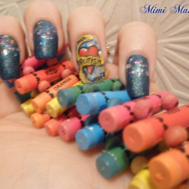 tatoo inspired autism nail art nail art by Michelle Travis