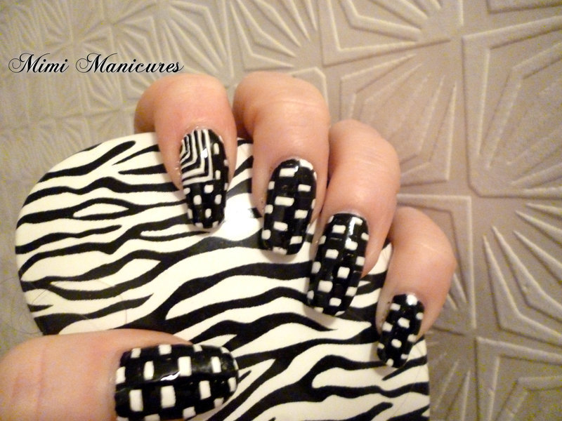 abstract nail art by Michelle Travis