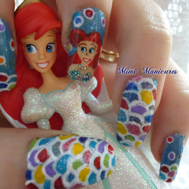 disney ariel nail art nail art by Michelle Travis