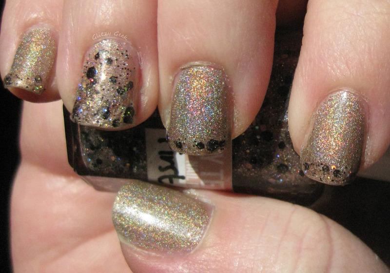 New Year's  nail art by Andi