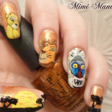 Disney Lion King nail art by Michelle Travis